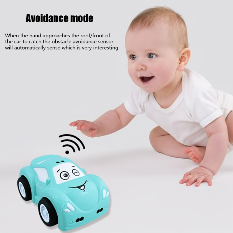 Birthday Gift for Boys Line & Moving Tracking Mode RC Car 2.4G Remote Control Smart Toy Car Induction Smart Sensor Car 97BC