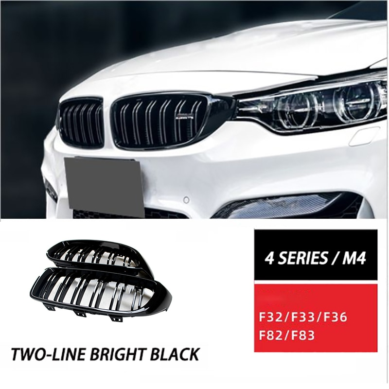 Car Grille Grill for BMW 4 Series F32 / F33 / F36 / M3 / F80 / M4 / F82 / F83 Modified Dual-line Grille Grill Auto Parts