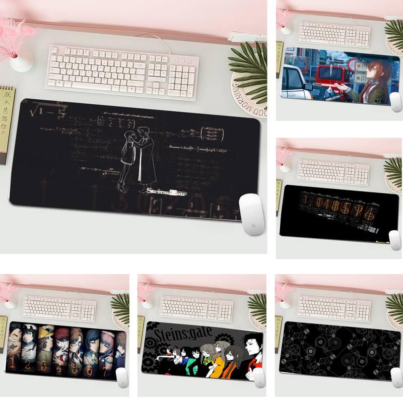 Очень большие коврики для мыши, компьютерный ноутбук, геймерский коврик для мыши в стиле аниме Steins, игровой коврик для клавиатуры, ПК, настол...