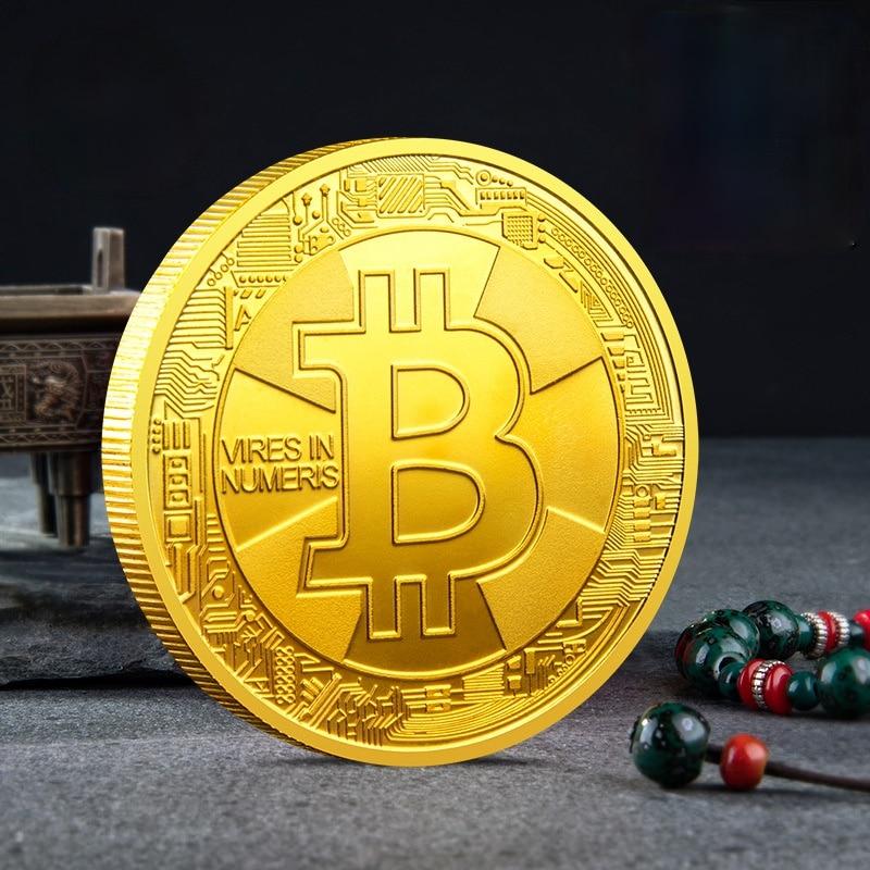 Bitcoin Plated Gold Coin Commemorative Coin Collectible Gift Souvenir CGMiner Bitcoin Collection Art Challenge Coin недорого