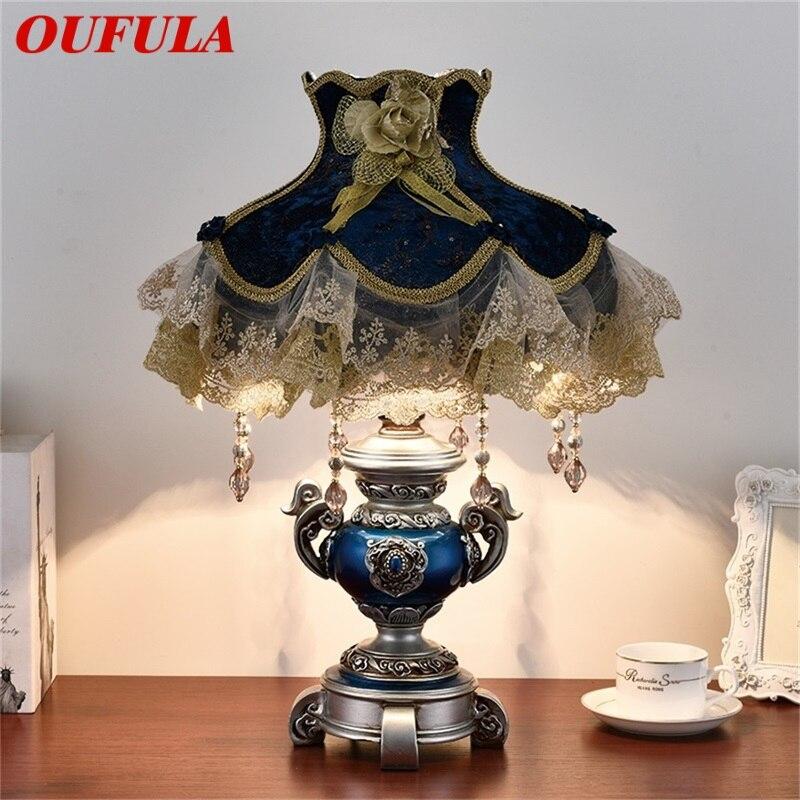 OUFULA настольные лампы с диммером, светодиодные Современные скандинавссветодиодный роскошные декоративные полимерные лампы для дома, спаль...