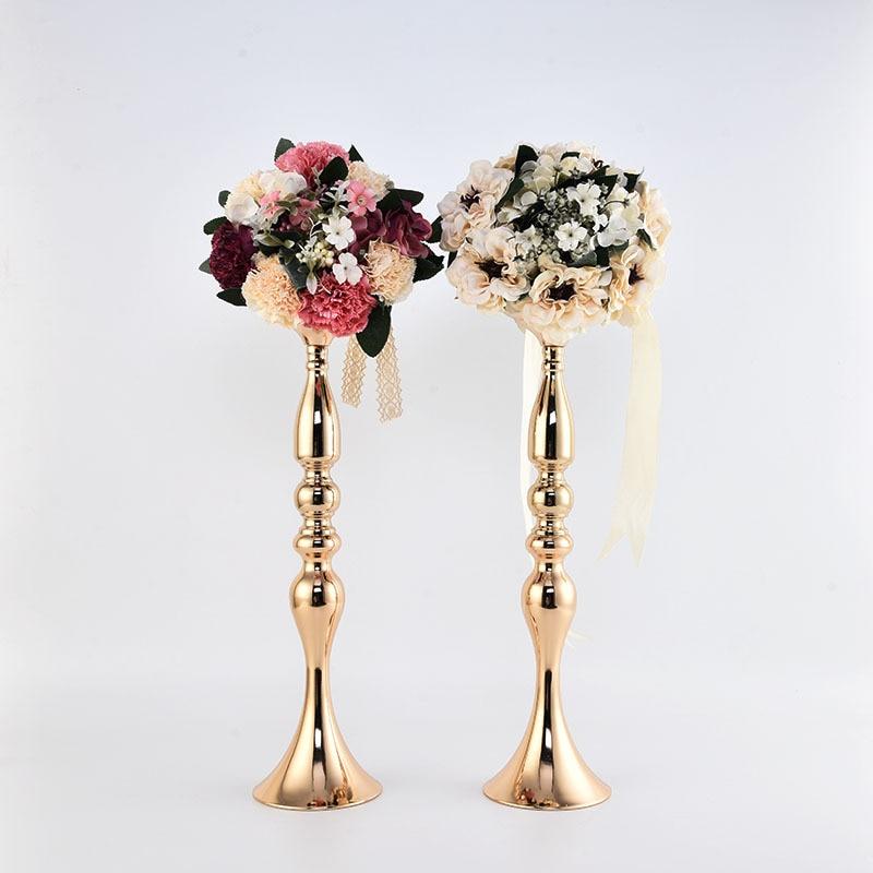 Подсвечники цветы ваза-подсвечник центральные дорога приведет канделябры Свадебные Porps украшения
