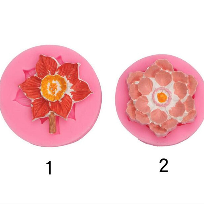 2 стиля Пион цветок силиконовая форма кухонные инструменты для выпечки искусственные кондитерские изделия десерт кружевное украшение