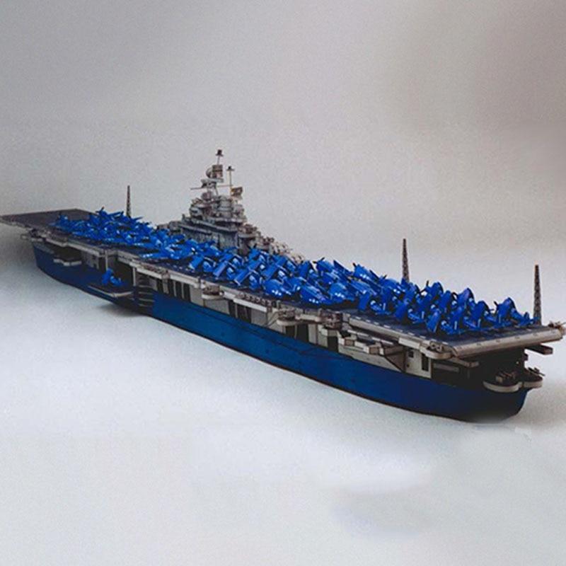 1400 USS dreadnught Carrier Vessels DIY 3D Tarjeta de papel modelo de construcción de juguetes de construcción juguetes educativos modelo militar