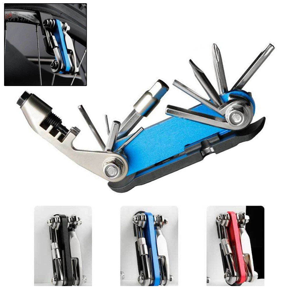 14 In 1 Bicycle Repair Tool Kit Hex Wrench Steel Portable MTB Road Bike Allen Key Wrench Multi-tool Cycling Spanner Accessories mtb road bike bicycle sprocket nut chain wrench crankcase disassembly spanner chainwheel dismounting tool