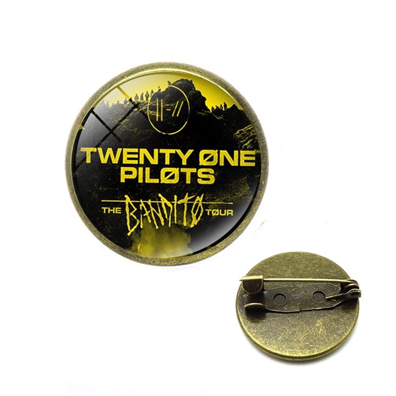 Twenty One Pilots броши Панк-рок музыка полоса логотип стеклянный рюкзак нагрудные значки на кнопках рождественские украшения