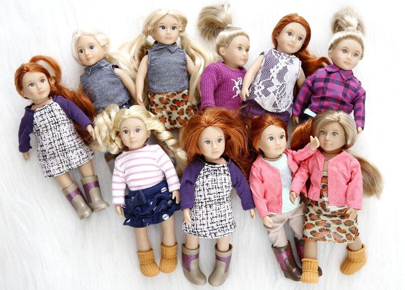 Juego de muñecas Mini para bebé de 15cm, colección de regalos para cumpleaños para niños