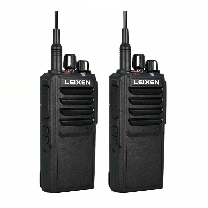 2pcs LEIXEN VV-25 Walkie Talkie 25W Ham Radio Amador 12.6V 4000mAh Battery Walky Talky Professional Uhf Marine Radio Comunicador