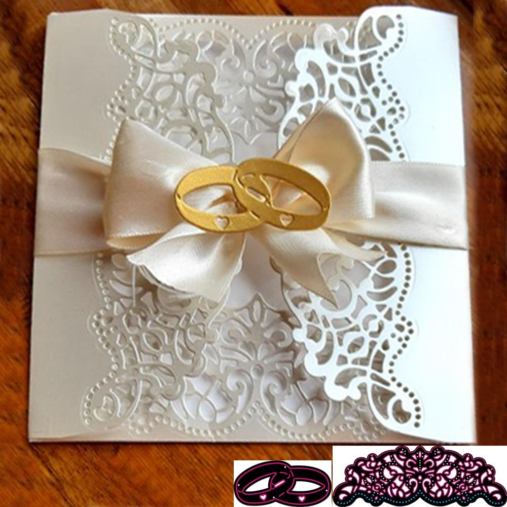 Nuevos DIY anillos de boda troqueles de corte de Metal tampones para...