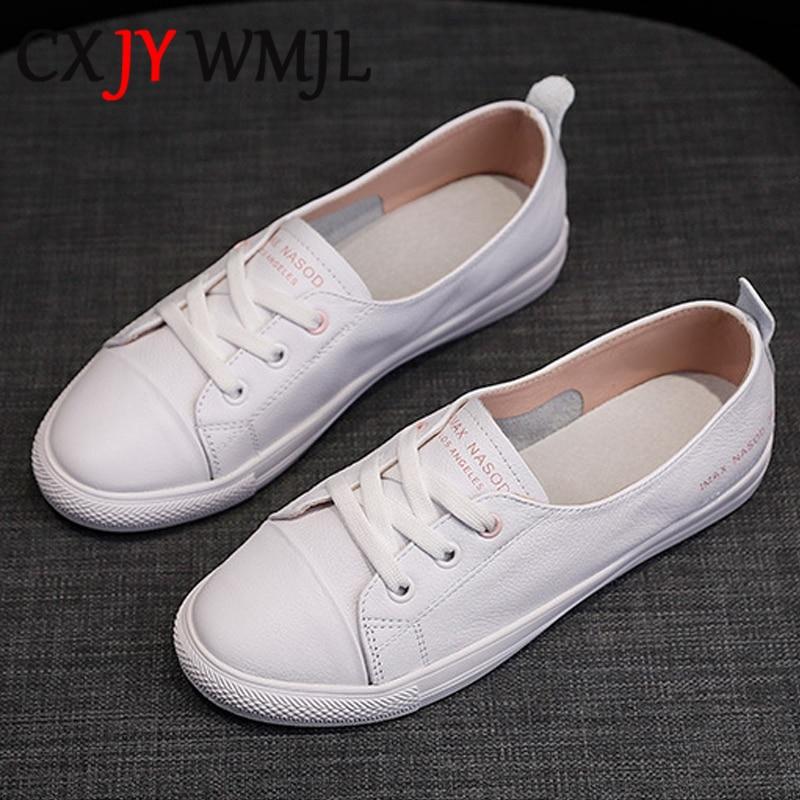 المرأة حقيقية أحذية رياضية من الجلد النساء أحذية رياضية عصرية غير رسمية مبركن امرأة الصيف حذاء مسطح السيدات الأبيض جلد 40