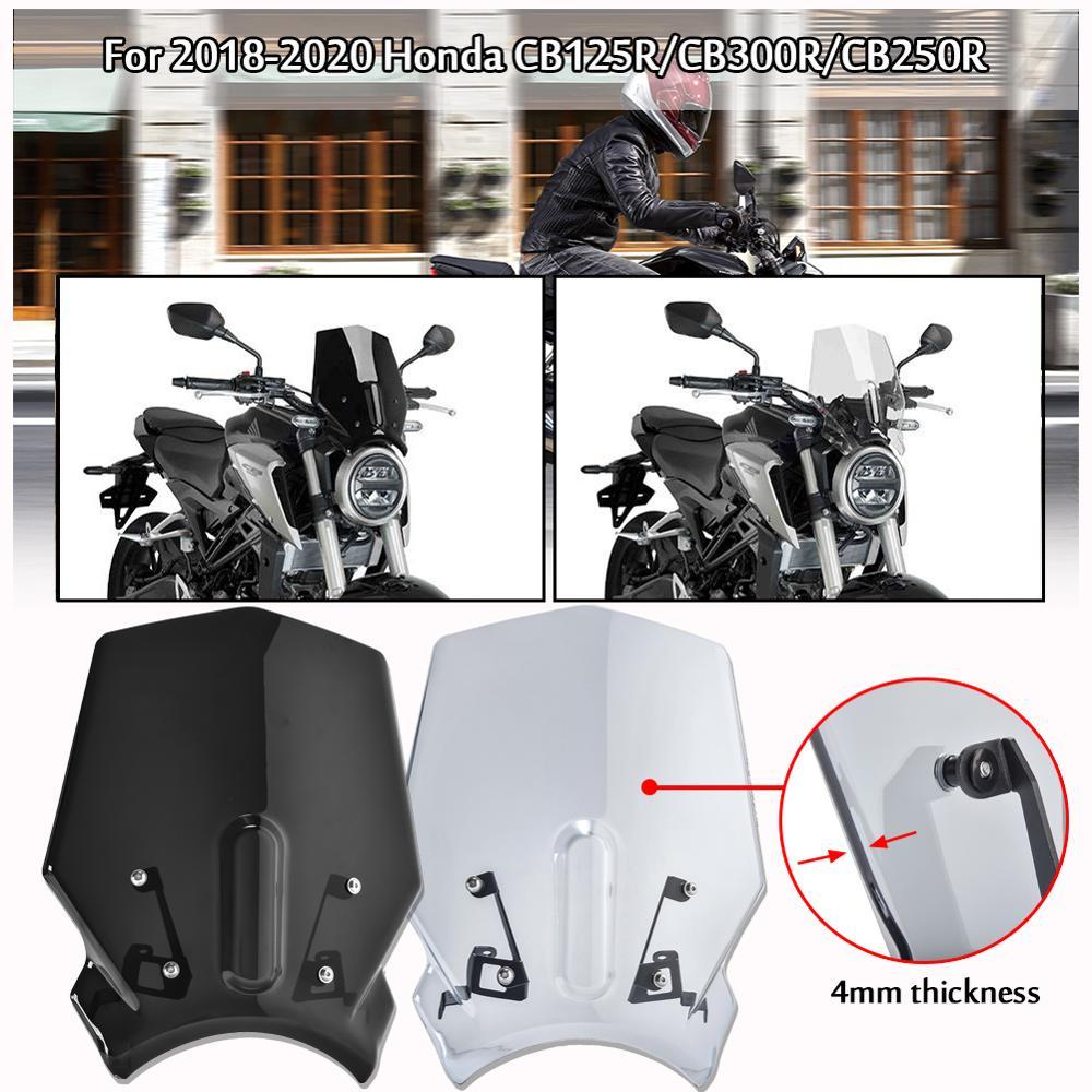 Parabrisas deportivo para motocicleta, Visor Deflector de aire para 2018 2019 2020 Honda CB125R CB300R CB250R, accesorios