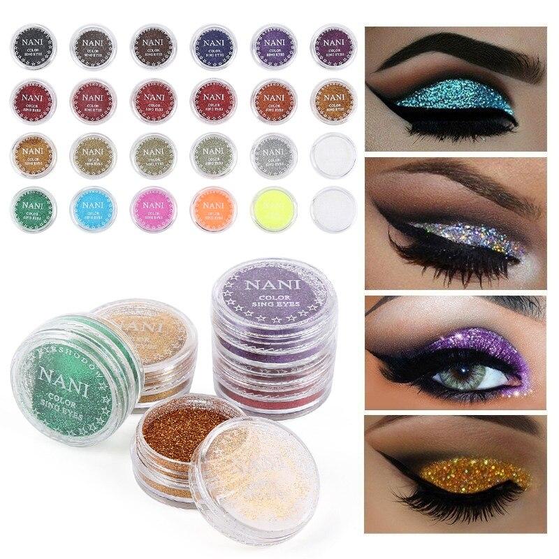 Purpurina perla sombra de ojos larga duración lentejuelas sombra de ojos paleta cosméticos brillo de diamante metálico paleta de sombra de ojos maquillaje TSLM2