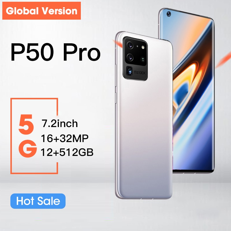 Hauwei P50 Pro Smartphone 7.2 inch 12GB+512GB 5000mAh Global Version 4G/5G Mobile phones  Android Unlocked Celulares Cell phone