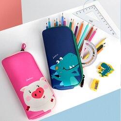 2020 uek zip lápis caso saco caneta menina material escolar dos desenhos animados animais à prova dwaterproof água eco-friendly papelaria para crianças