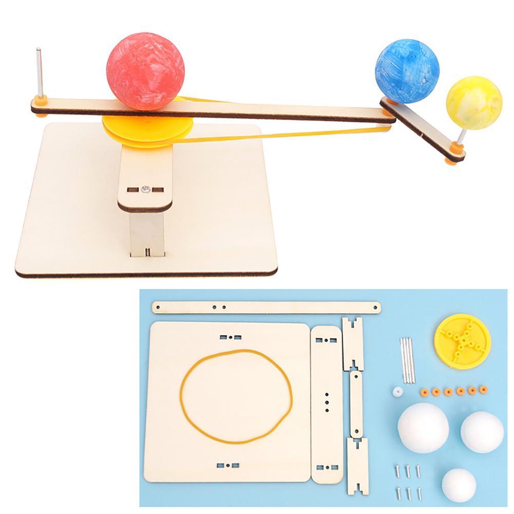 Diy, terra, lua, sol, orbitais, planetário, geografia, experimento, educacional, crianças, brinquedo, aprendizagem, brinquedos para crianças, presentes
