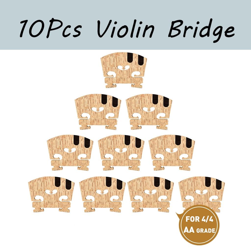 10PCS 4/4 Violin Bridge Master AA Grade Maple Bridge W/ E A Ebony Inlay Violin Bridge adjustable standard bridge bass violin bridge double bass bridge standard maple 1 2 3 4 4 4 double bass bridge