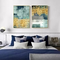 abstract nordic oil painting on canvas modern golden graffiti poster and prints picture for living room home wall art decor