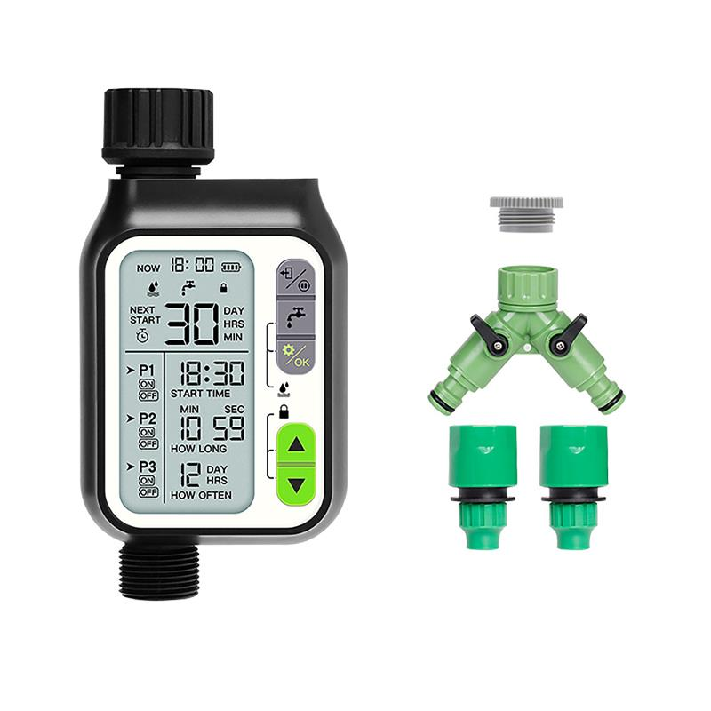 Temporizador de riego con Sensor de lluvia, temporizador de riego, impermeable, Sensor de nivel de agua, sistema automático de riego de flores, herramientas de jardín