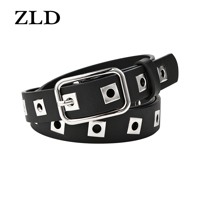 ZLD New fashion Punk style hollow women belt Alloy pin buckle belts All-match Casual ladies decorati
