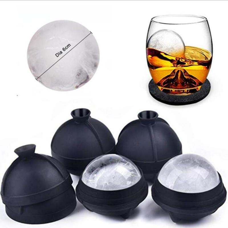 Silicone Large Round Ice Mold For Whiskey Reusable Spherical Ice Ball Grid For Cocktails And Scotland Kitchen Ice Cream Tools