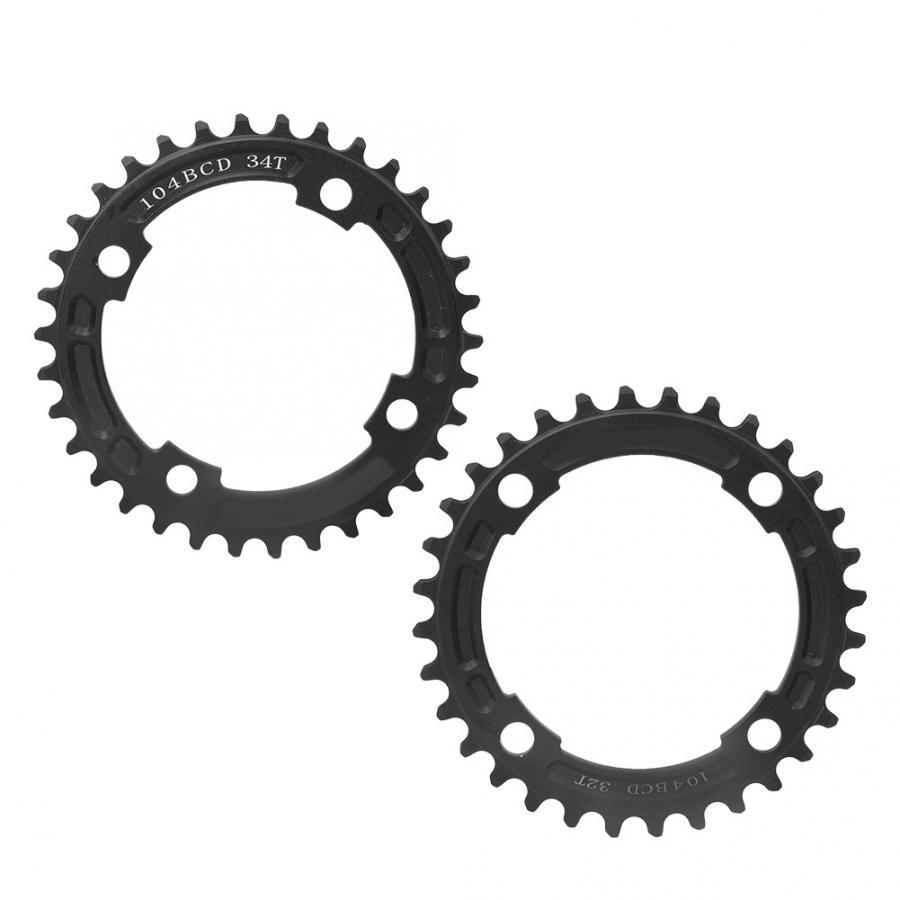 aluminium alloy bicycle crankset 32 teeth 34 teeth bike single disc positive negative teeth chain wheel chainring bicycle part