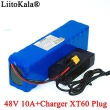 LiitoKala e-bike batterie 48v 10ah 18650 li-ion batterie pack vélo kit de conversion 1000w XT60 plug + 54.6v 2A chargeur