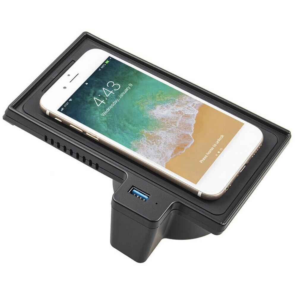 Módulo de almohadilla de carga inalámbrica rápida QI para teléfono de coche 10W para BMW X5 F15 X6 F16 14-18 cargador de coche duradero y práctico