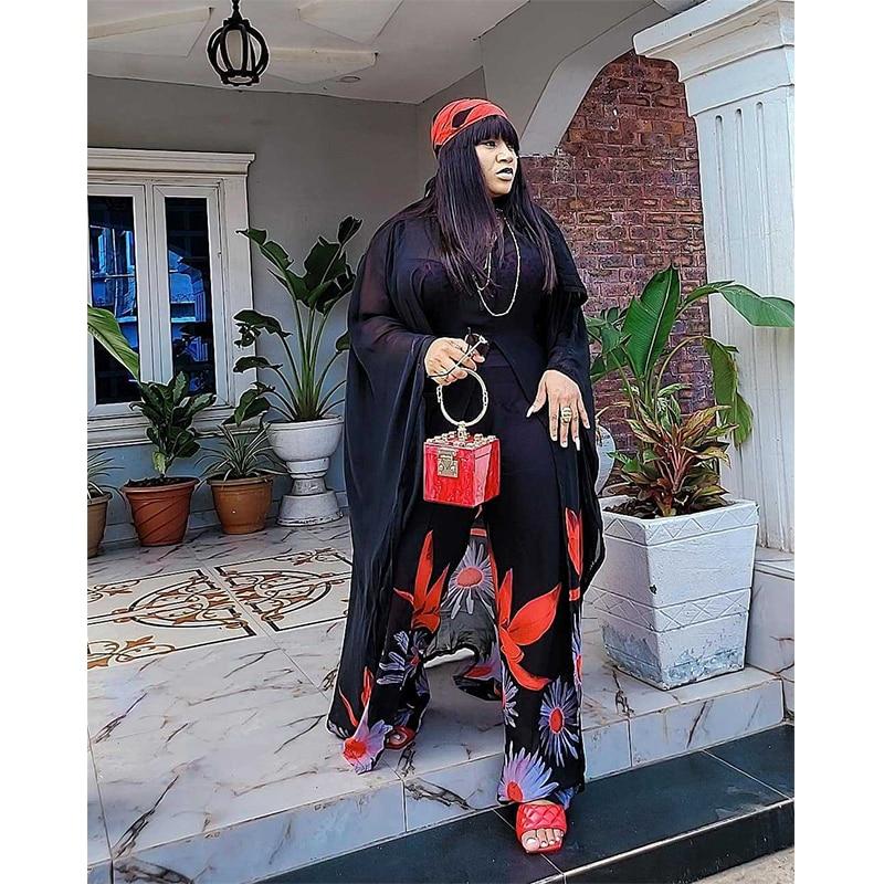 حجم كبير فستان نسائي أفريقي boubu فستان أفريقي للمرأة حجم الحرة مع تصميم التطريز فستان طويل أفريقي