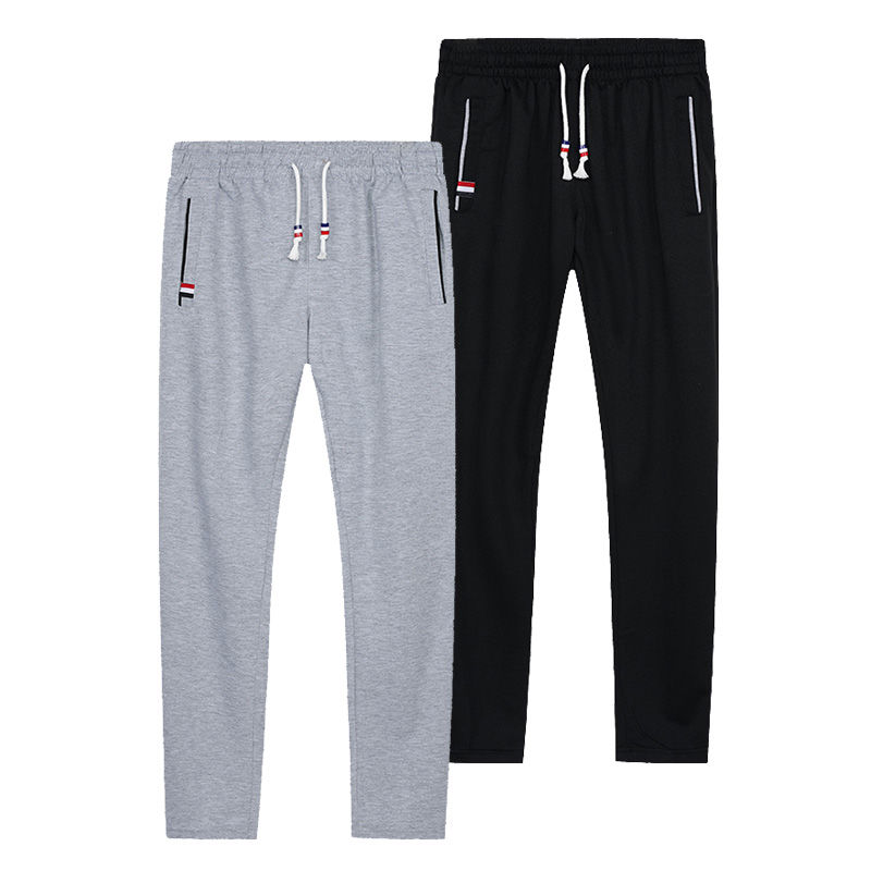 Sweatpants Plus Size Men Joggers Track Pants Elastic Waist Sport Casual Trousers Baggy Fitness Gym Clothing Black Grey