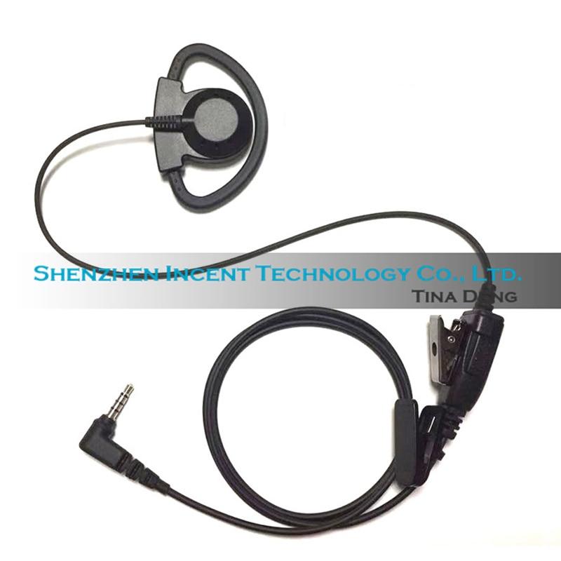 VOIONAIR 40pcs D Hook Over Ear Hook Earphone Earpiece Headset Speaker For Yaesu FT-2DR FT-3DR FT-70DR FT-60R