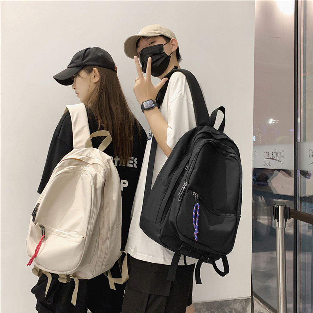 YIXIAO Fashion Men Women Backpack Travel Light Student College Nylon School Bags Casual Outdoor Male