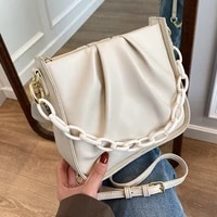 high quality retro ladies design fold cloud bag 2021 new korean version chain shoulder messenger bag hot selling female bag