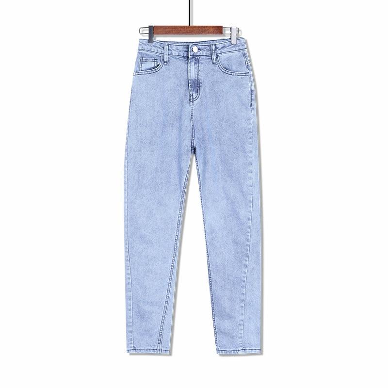 Pantalones vaqueros holgados de talla grande para mujer, estilo Boyfriend, estilo Harem Mom, color negro, Azul, Gris, pantalones vaqueros, 4XL, 5XL, 6XL, 7XL, 8XL, primavera y otoño