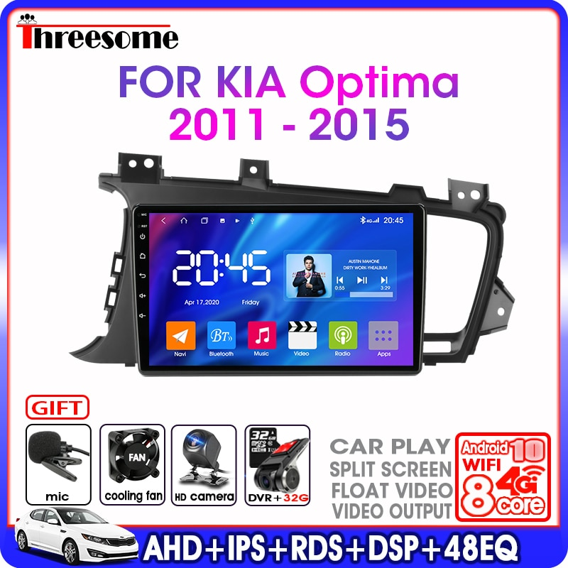 7in 1080p 2 din car mp5 player gps navigator bt am fm rds radio car multimedia player gps navigation autoradio cassette recorder Android 10.0 Car Radio For Kia K5 Optima 2011-2015 2 din DSP RDS stereo GPS Navigation Multimedia Video Player 4G NET+WIFI FM AM