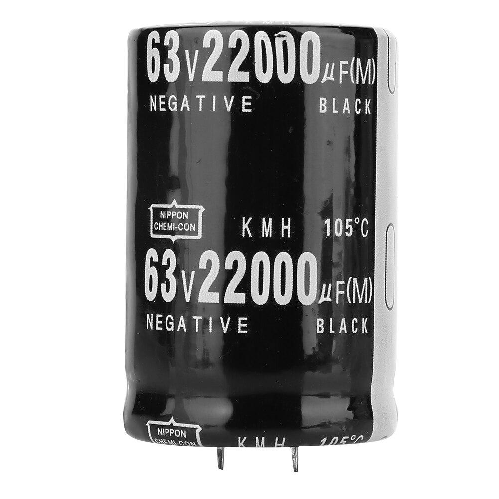 Condensador electrolítico de aluminio 63V 22000μF para el acoplamiento de filtrado de sintonización que pasa por la conversión de energía y el retraso