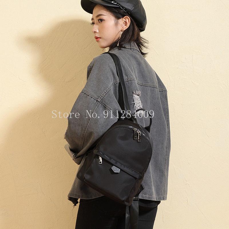 Рюкзаки Женские однотонные, мини-рюкзаки из водонепроницаемой ткани «Оксфорд» для офиса, простые элегантные универсальные модные корейски...