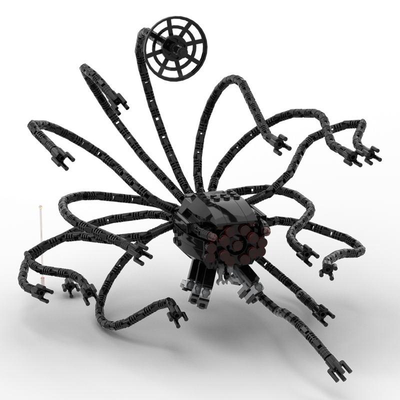 فيلم الخيال العلمي الوحش الأخطبوط MOC بنة الأطفال لعبة الهدايا مصفوفة الحارس