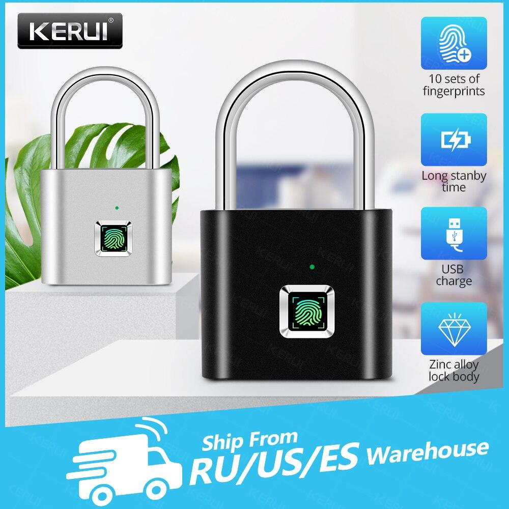 Умная Электронная заряжаемая через usb Противоугонная электронная сумка KERUI с замком для багажа без ключа