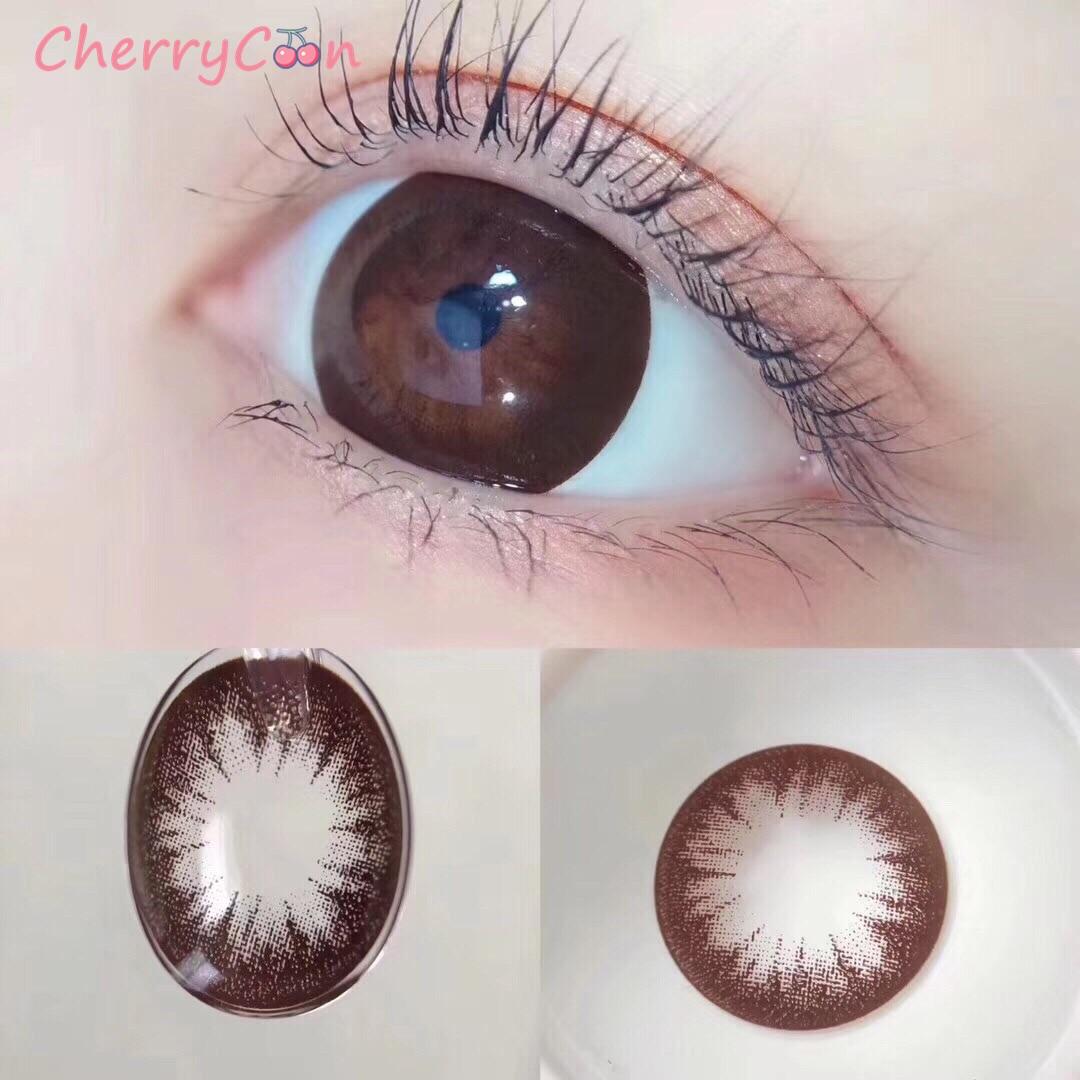 Контактные линзы CherryCon beauty eye, коричневые контактные линзы для больших зрачков, ежегодные цветные мягкие контактные линзы для глаз, степень ...