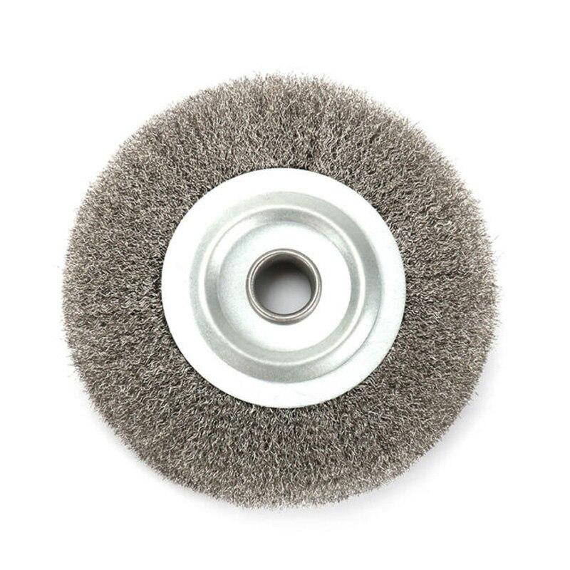 Escova para Moedor de Bancada Brush Frisado Aço Inoxidável Fio Roda Remoção Ferrugem Deburr Ferramentas 5 – 125mm