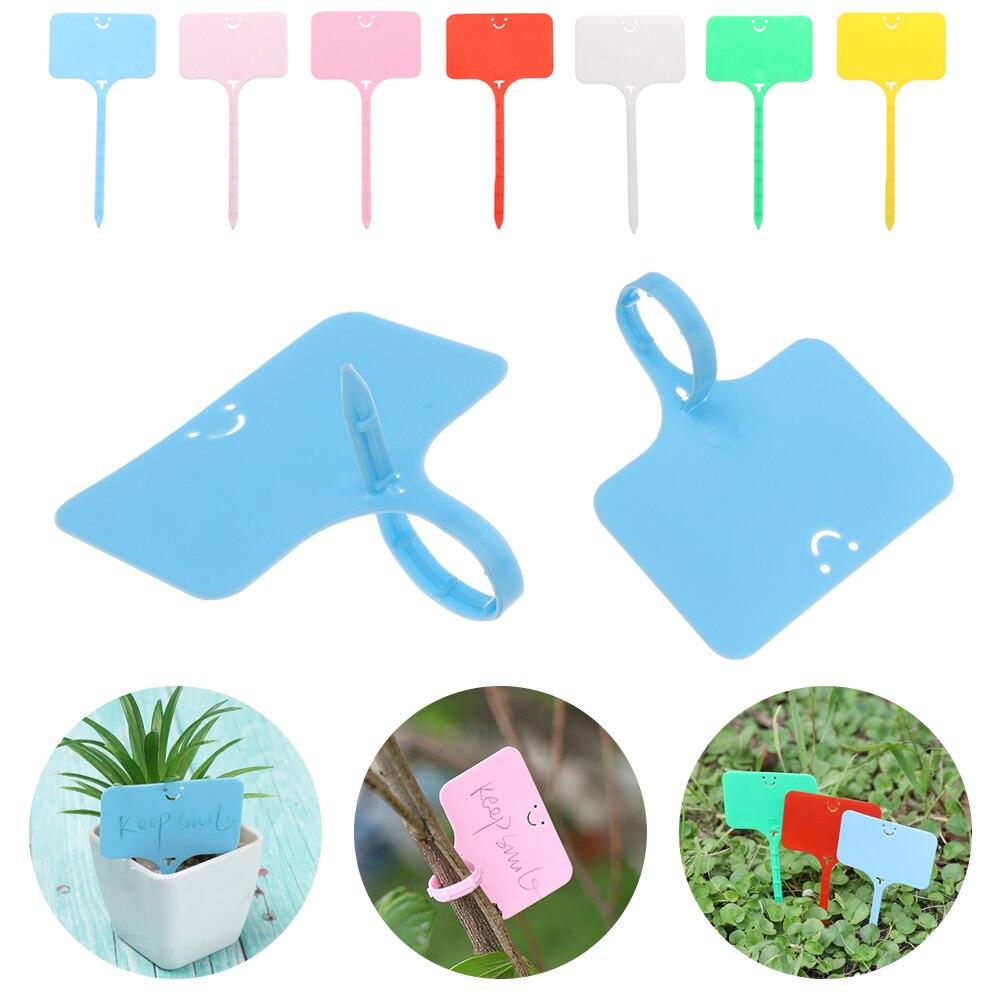 100 шт., Т-образные садовые этикетки для сортировки растений