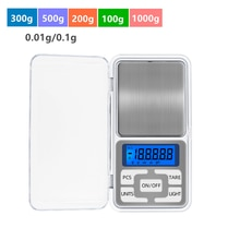 1 stücke 100g/200g/300g/500g 0,01g 100 0g 0,1g digital Pocket skala Mini Waagen Schmuck Gewicht Diamant Balance Küche Wiegen