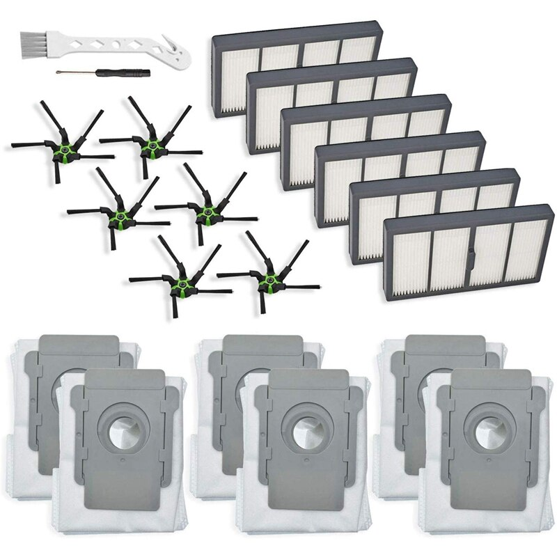 Paquete de 18 piezas de repuesto para IRobot Roomba S9 (9150) S9 + S9 Plus (9550) S serie Wi-Fi Robot aspirador conectado (6 filtros
