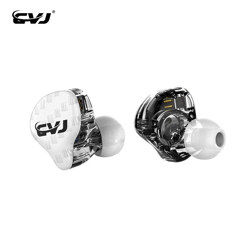 CVJ CSA 1BA + 1DD dans loreille écouteur hybride casque HIFI musique sport écouteurs antibruit écouteurs avec 2Pin remplacé câble