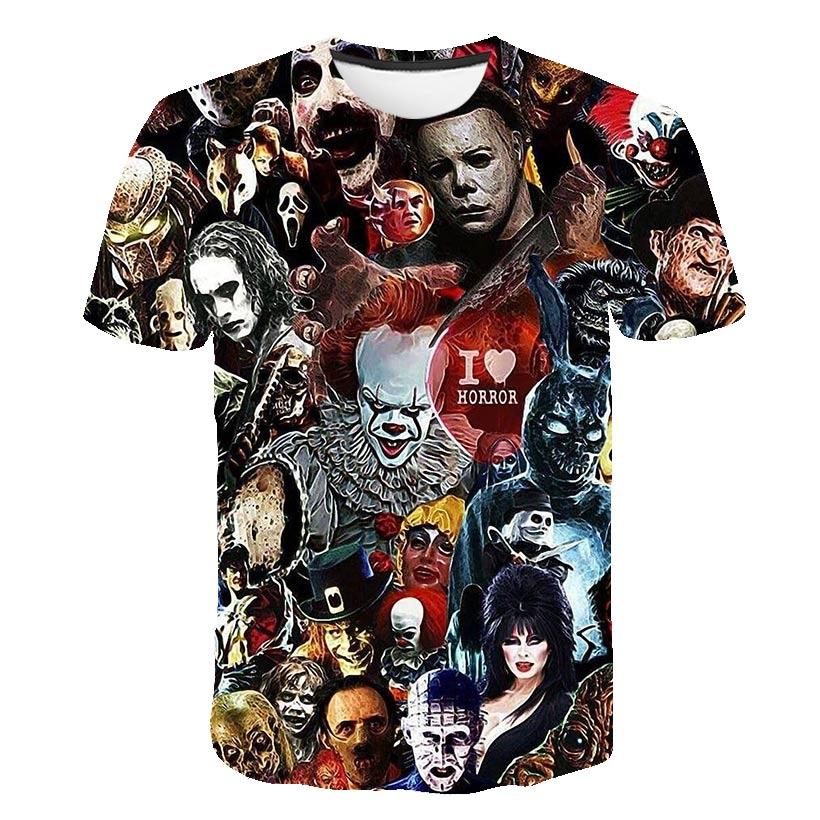 Horror Movie It Penny Wise Clown Joker 3D Print Tshirt boys girls Hip Hop Streetwear Tee T shirt kids Cool Clothes Tops