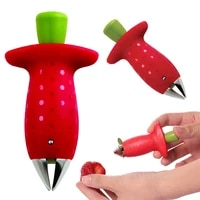 strawberry hullers metal plastic fruit leaf remover tomato stalks strawberry knife stem remover gadget kitchen cooking tool hot