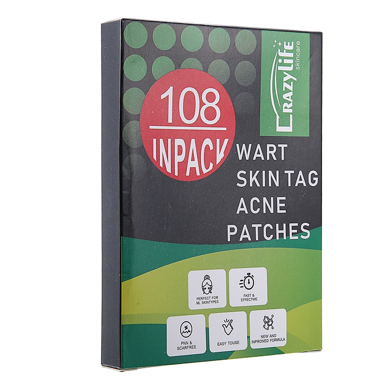 108 Transparent Concealer Patches Invisible Acne Stickers Dermopatchy Acne Concealer Tags Blemish Remover Wart Care Patch