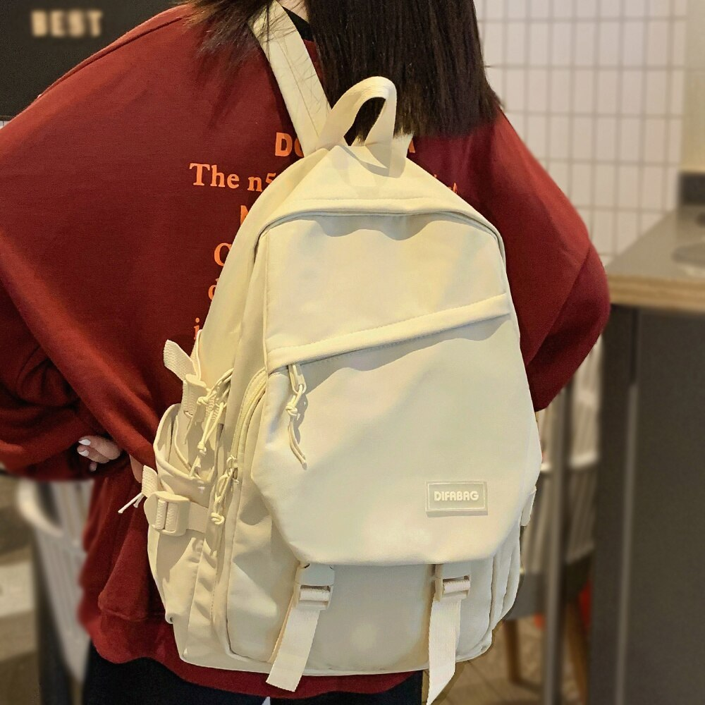 Милый модный женский рюкзак, крутая нейлоновая женская школьная сумка, женский рюкзак для ноутбука для колледжа, кавайная модная Женская Ст...