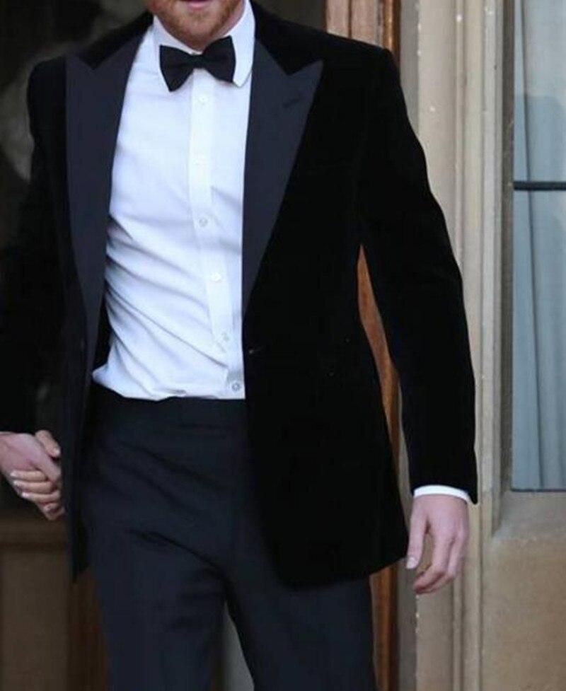 Handsome One Button Groomsmen Peak Lapel Groom Tuxedos  Men Suits Wedding/Prom/Dinner Best Blazer(Jacket+Pants+Tie) 044