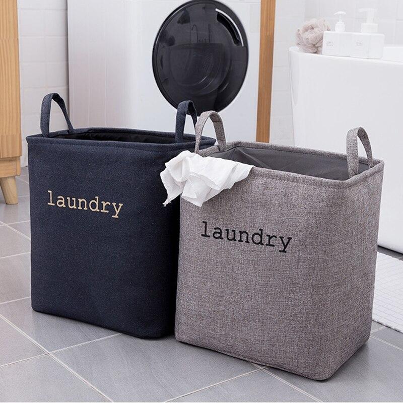 Cesta de lavandería plegable niños juguetes organizador Almacenamiento de lona cesta de almacenamiento ropa sucia cesta de almacenamiento
